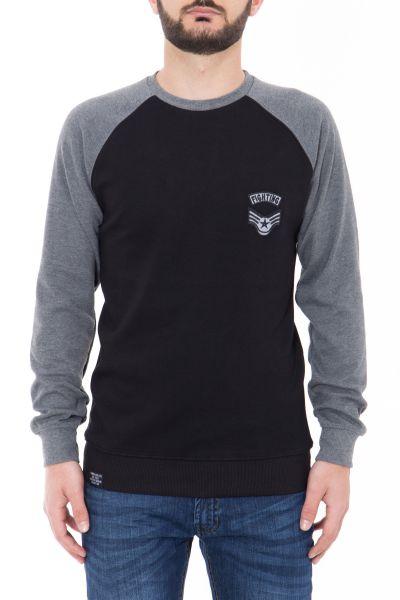 CANIZALES Raglan-Sweatshirt mit kontrastfarbenen Ärmeln
