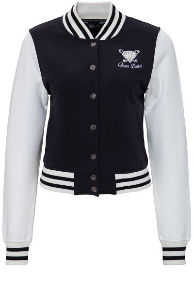 QUEEN KEROSIN College Jacket mit Frottier-Stickerei