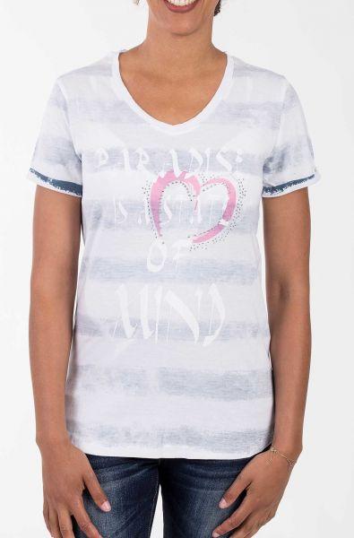 BLUE MONKEY T-Shirt mit Print und Strass-Steinen