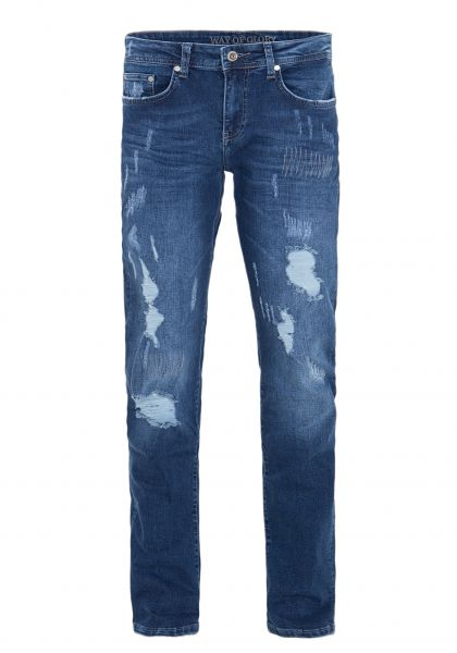 WAY OF GLORY Regular Fit Jeans »Carlos« mit Destroyed Effekten Carlos