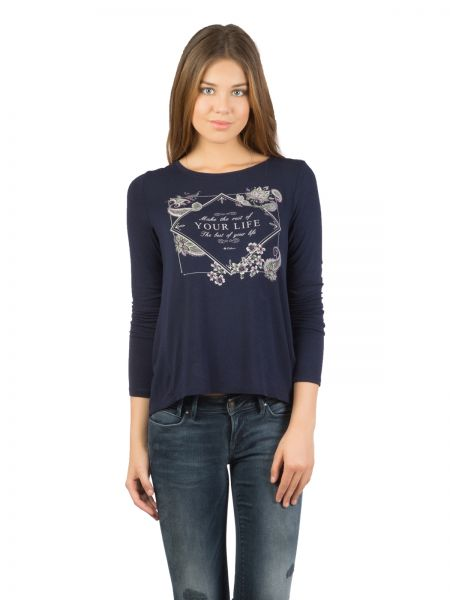COLINS Feminines Langarmshirt mit Frontdruck