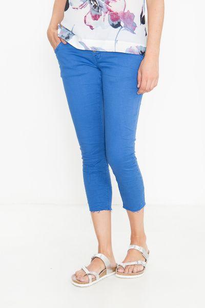 BLUE MONKEY Caprihose mit geschnittenen Saumkanten Manie 7174
