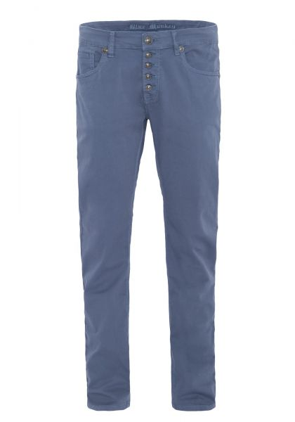 BLUE MONKEY Slim Fit Hose mit offener Knopfleiste und Logonieten » Alex 4438 « Alex 4438