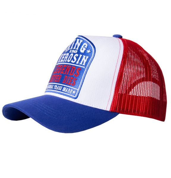 KING KEROSIN Trucker Cap mit Mesh-Einsatz Legends never die
