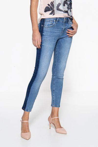 ATT JEANS Slim Fit Jeans mit farblichem Kontrast an den Seitennähten Leoni