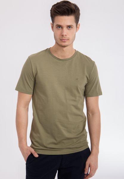 MEXX Basic Shirt mit Rundhals aus reiner Baumwolle