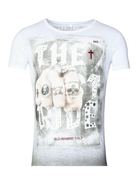 KEY LARGO Herren T-Shirt MT LAST RIDE round Farbe  Größe