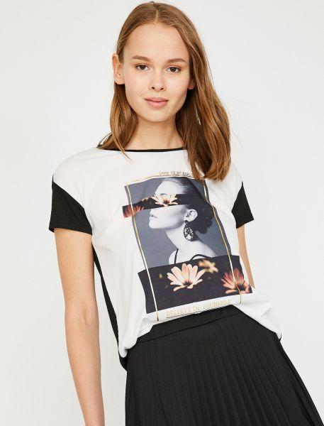 KOTON T-Shirt mit Motivdruck