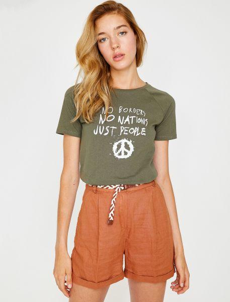 KOTON Shirt mit Statement-Druck