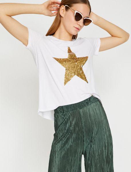KOTON T-Shirt mit Paillettenstern