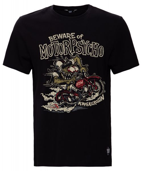 KING KEROSIN Print T-Shirt mit Monster Motiv Motorpsycho