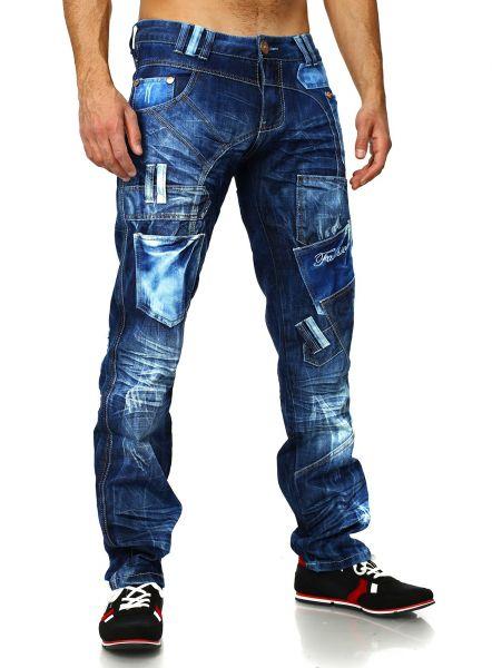 Jeans Herren Destroyed Kosmo Lupo