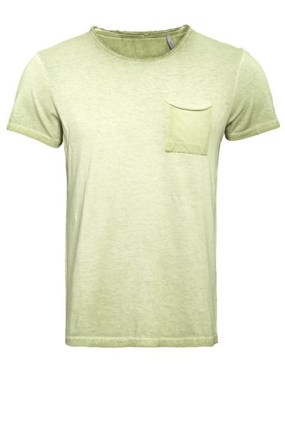 WAY OF GLORY Oil-Washed Basic T-Shirt Round neck im used Look mit Brusttasche