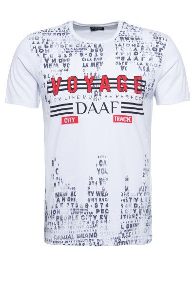 Daniel Daaf T-Shirt mit Alloverdruck und Front Motiv