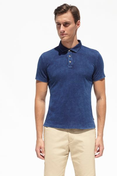 PORT ROYALE Poloshirt im Used-Look