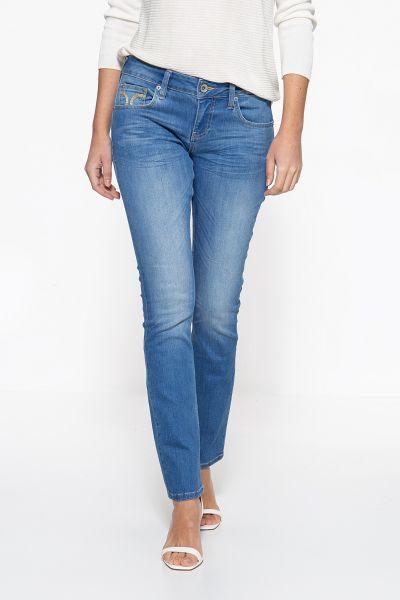 ATT JEANS Slim Fit Jeans mit markanter Absteppung auf der Münztasche Stella