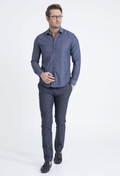 LUFIAN Slim Fit Hemd mit floralem Allovermuster Dougles