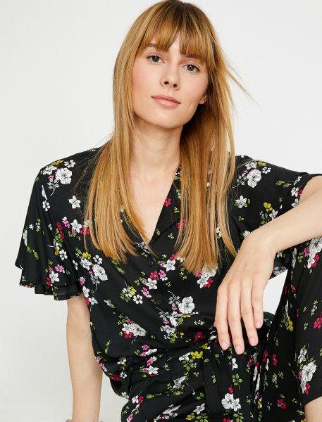 KOTON Hemdbluse mit floralem Muster