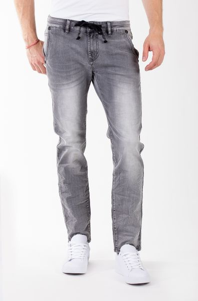 BLUE MONKEY Slim-Fit Jeans mit Kordelzug am Bund ROCK 4378