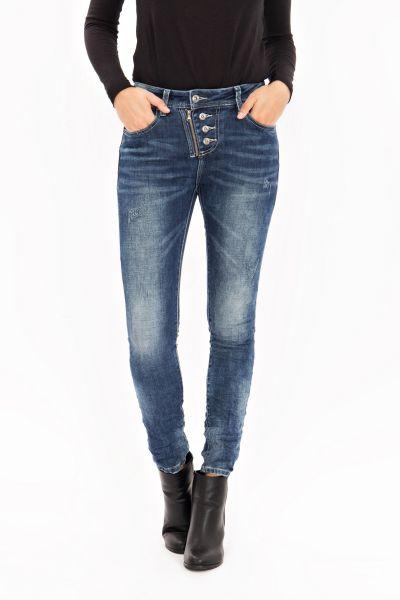 BLUE MONKEY Skinny Jeans im Used Look Daria 1651