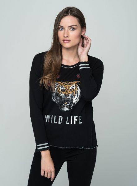 KEY LARGO Damen Sweatshirt & Sweatjacken WSW WILD NATURE round