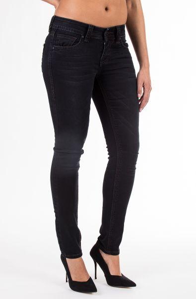 BLUE MONKEY Skinny Jeans mit Taschenapplikation Luna 3691