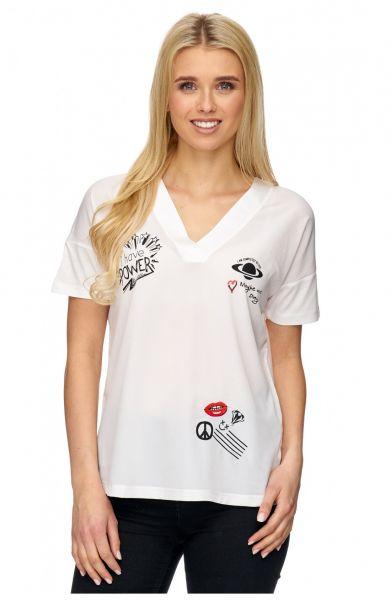 DECAY T-Shirt mit platzierten Druckmotiven