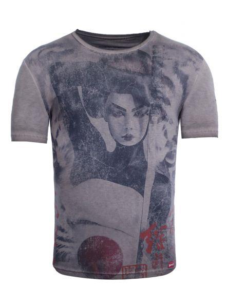 AKITO TANAKA T-Shirt mit großem Geisha Druckmotiv »Geisha Tiger«