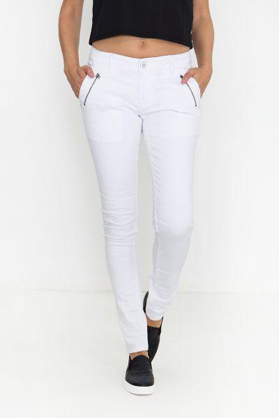 BLUE MONKEY Skinny Fit Jeans mit Reißverschlusstaschen vorne Diana 7138