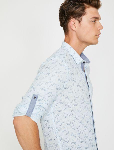 KOTON Hemd mit Fisch-Print