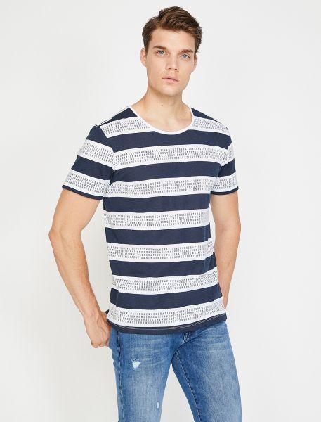 KOTON T-Shirt mit coolem Streifenmuster