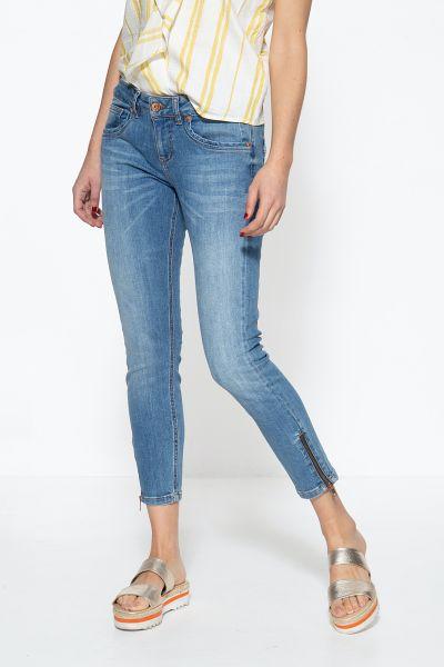 ATT JEANS Damen 5-Pocket Jeans mit Reißverschlüssen an den Säumen und legeren Waschungen Leoni