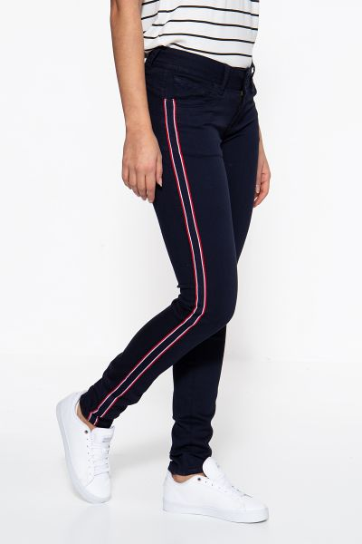 BLUE MONKEY Skinny Fit Jeans  »Laura 3996«  mit stylischen Galonstreifen Laura 3996