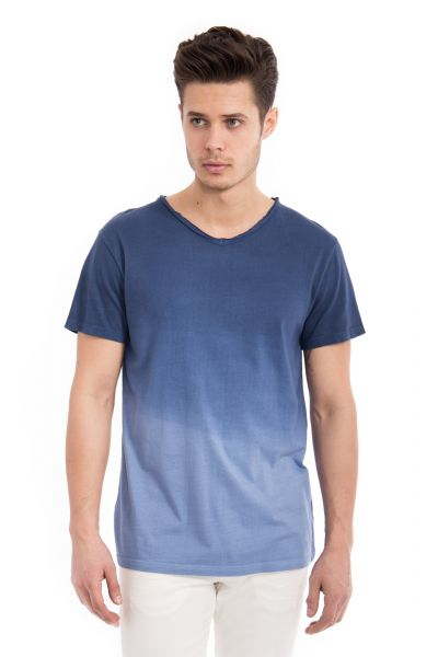 WAY OF GLORY  Basic T-Shirt Round neck mit Dip Dye Effekt