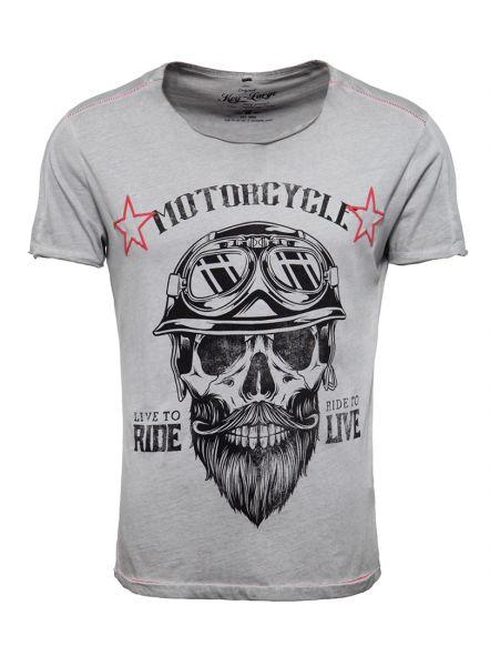 Key Largo Herren T-Shirt MT Bearded BIKER round