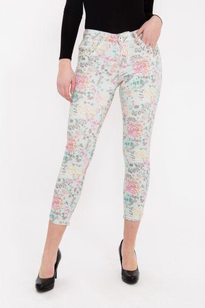 ATT JEANS - 7/8 Hose  mit floralem Druck und verzierten Eingriffstaschen, Slim Fit Leoni