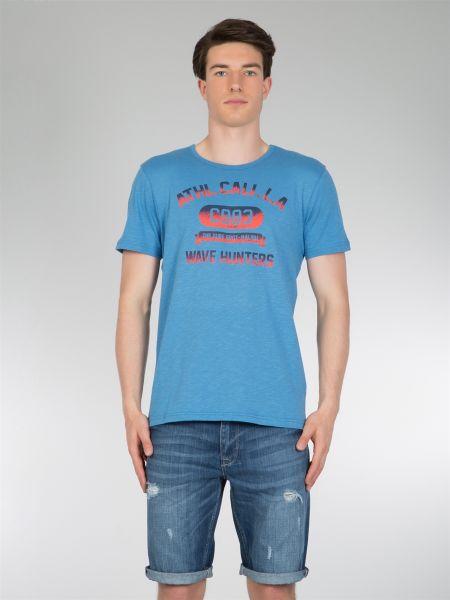 COLINS T-Shirt mit College Druck vorne