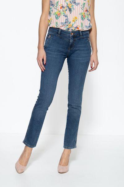 ATT JEANS Damen 5-Pocket Jeans mit französischen Eingrifftaschen Zoe Jog