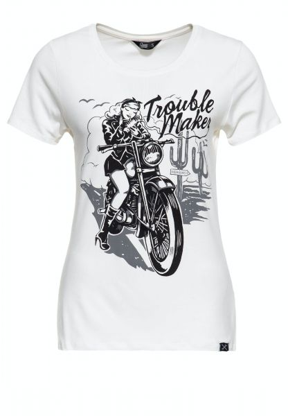 Slim Fit Print Shirt »Trouble Maker«