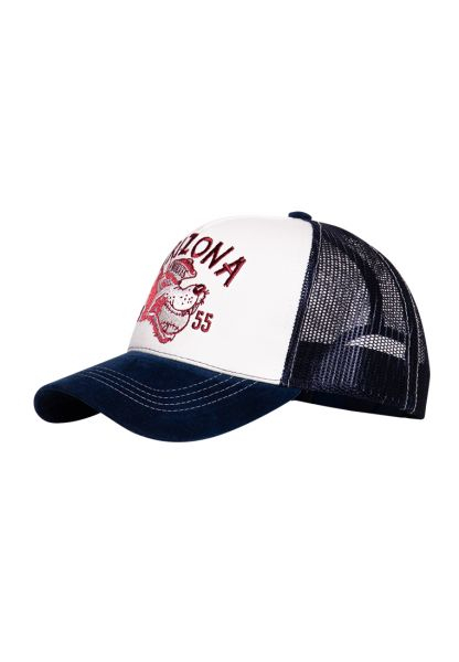 Trucker Cap mit Front-Stickerei und Schirm in Samt-Optik »Arizona«