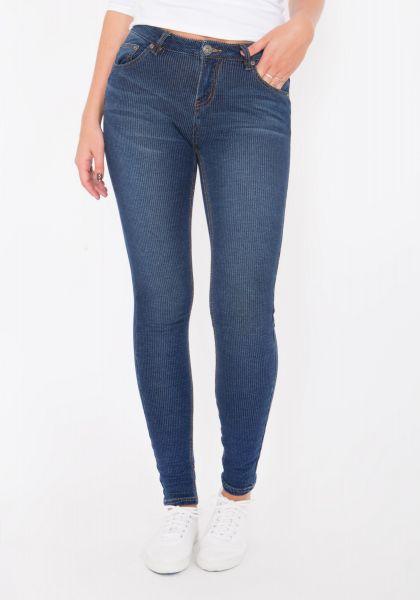 BLUE MONKEY Skinny Jeans im Streifendesign Clara 8037