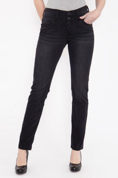 BLUE MONKEY Slim Fit Jeans mit halb verdeckter Knopfleiste und Teilungsnähten »Judy 5158« Judy 5158