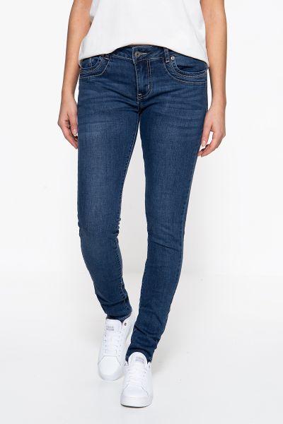 BLUE MONKEY Skinny Fit Jeans »Sabrina 10120« abgesteppten Eingrifftaschen Sabrina 10120
