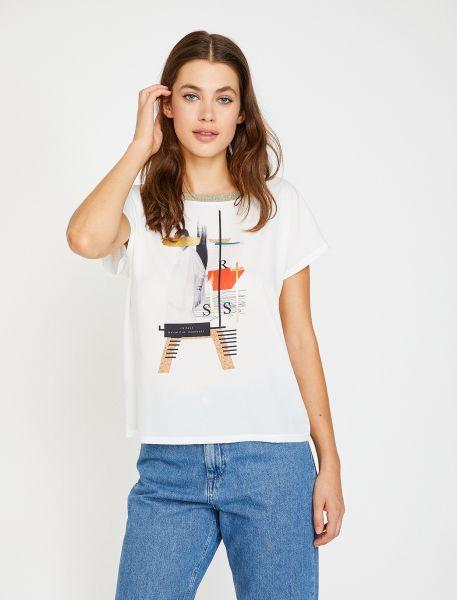 KOTON T-Shirt mit Motivdruck in der Front