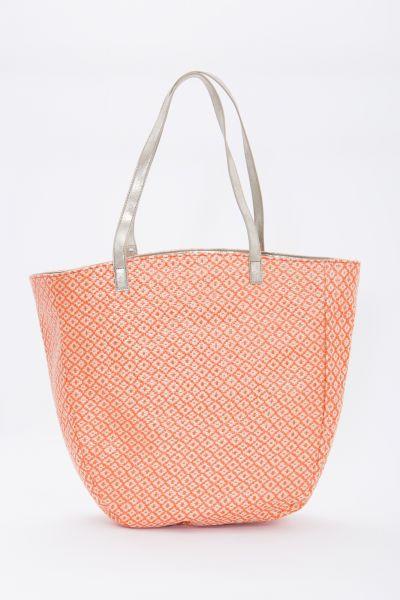 MEXX Gemusterte 2-in-1 Shopper Tasche