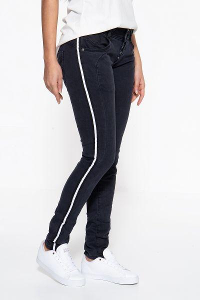 BLUE MONKEY Skinny Fit Jeans »Anny 10134«  mit modischen Galonstreifen Anny 10134
