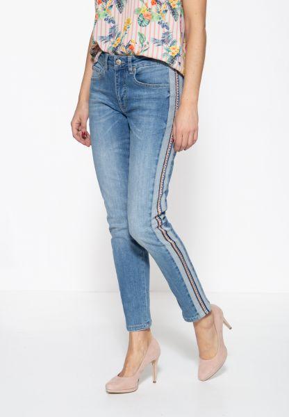 ATT JEANS Damen 5-Pocket Jeans mit seitlichem Einsatz und Nietenband Mara