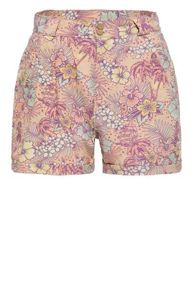 Shorts mit hawaiianischem All-Over-Muster
