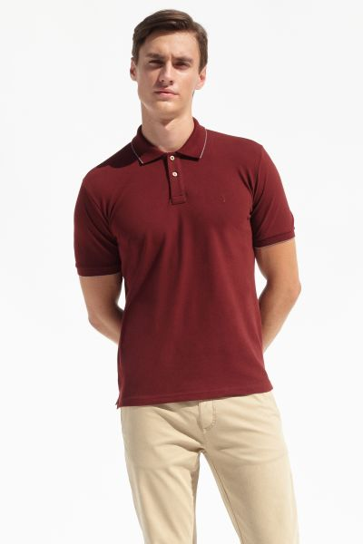 PORT ROYALE Poloshirt mit Details in Konstrastfarben