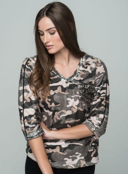 KEY LARGO Damen Sweatshirt & Sweatjacken WSW COVER v-neck 34